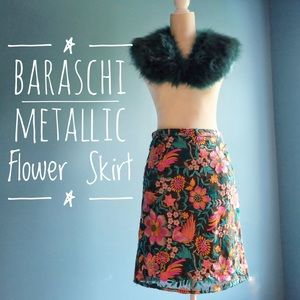 {Yoana Baraschi} Metallic Flower Skirt